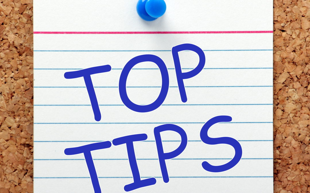 TOP TIPS – Money savers …