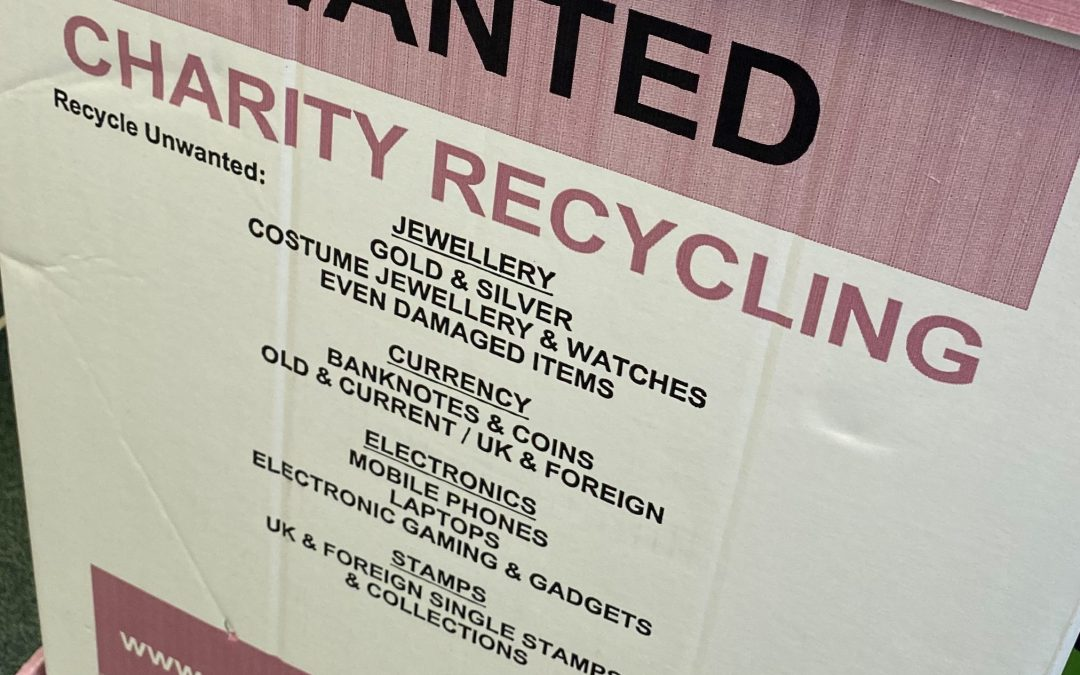 Don't forget to recycle for ACWW